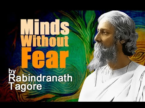 Pearls Of Wisdom - Where The Mind Is Without Fear by Rabindranath Tagore - Poetry Reading