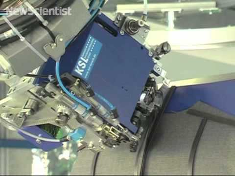 Robo-tailor stitches a jacket seam