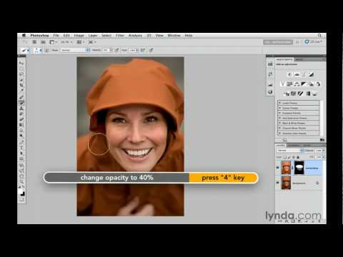 Using the Shadow/Highlights controls to brighten shadows | lynda.com tutorial