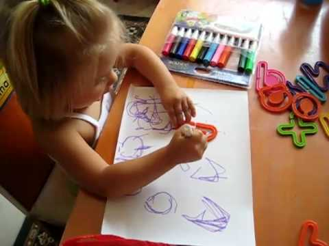 Toddler - Prewriting. Letter stencils