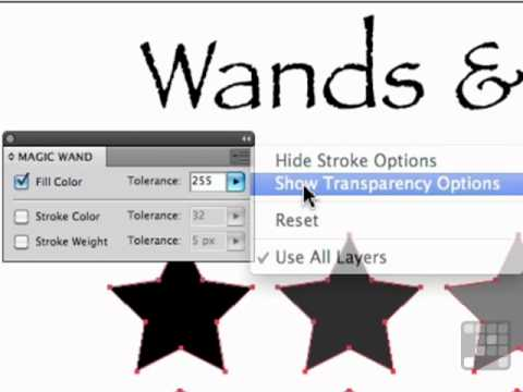 Working with the Wand and Lasso Tools - Illustrator CS5 Tutorial