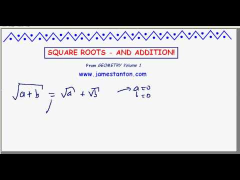 Square Roots - and Addtion (Dr. James Tanton: Mathematics)