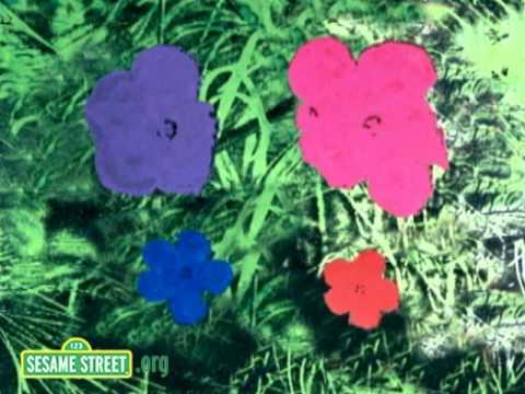 Sesame Street: Warhol Flowers Number 4