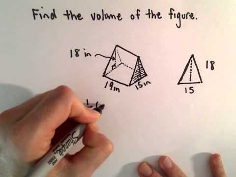 Volume of a Prism (A Tent Shaped Object!)