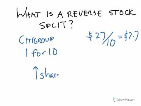 What is a reverse stock split?