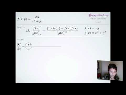 Partial Derivatives Example 7
