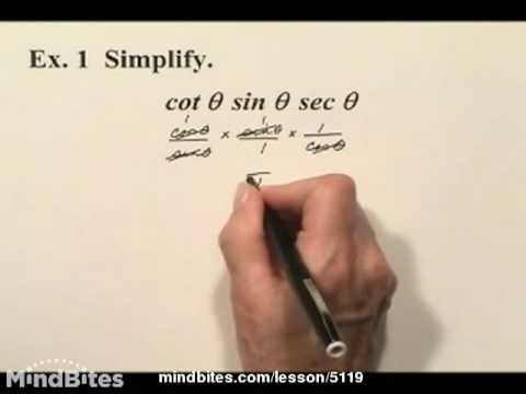 Trig: Simplifying and Proving Identities