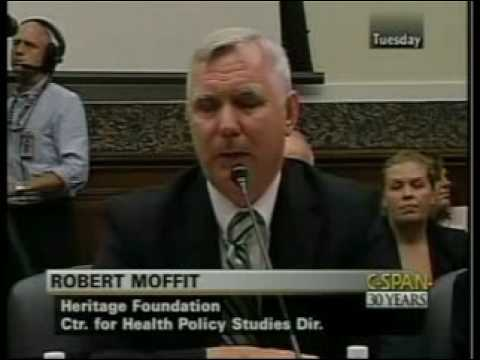 Robert Moffit testifying on Health Care