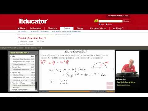Physics: Electric Potential (Semicircle)