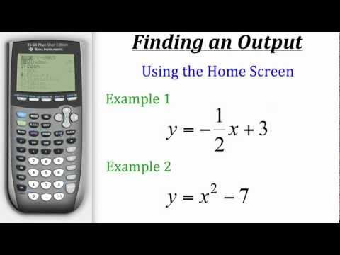 TI Calculator Tutorial: Finding Output Values