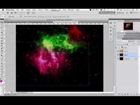 Photoshop CS5 tutorial: How to make a Beautiful Cosmic Nebula Space Scene