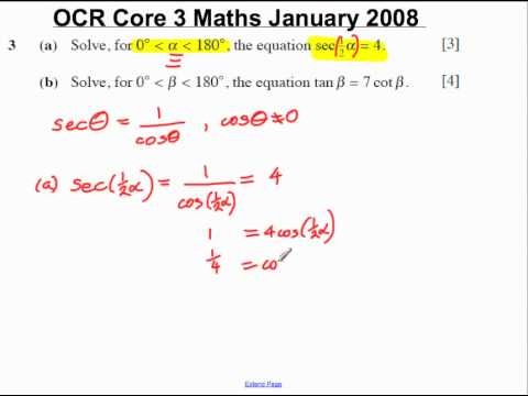 Q3(a) Core 3 OCR Maths January 2008.mp4