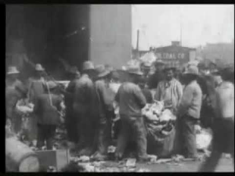 Sorting refuse at incinerating plant, New York City
