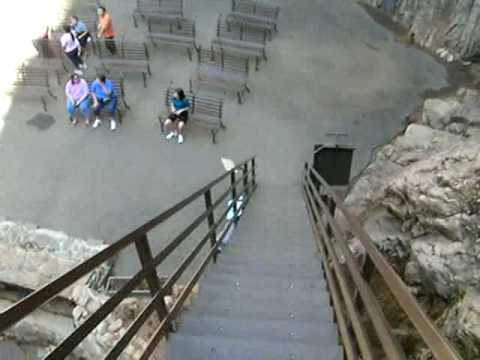Walking Down the Steps at Seven Falls, Colorado Springs Colorado