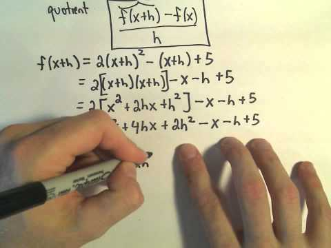 The Difference Quotient - Example 2