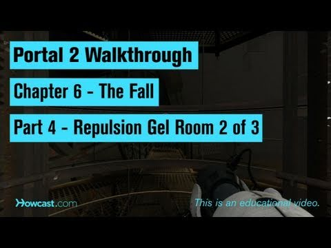 Portal 2 Walkthrough / Chapter 6 - Part 4: Repulsion Gel Room 2 of 3