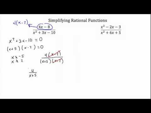Rational Functions -Simplifying-Textbook Tactics