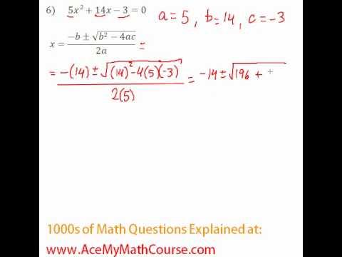 Quadratic Formula #6