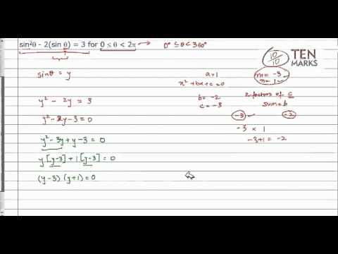 Solve Trigonometric Equations in Quadratic Form