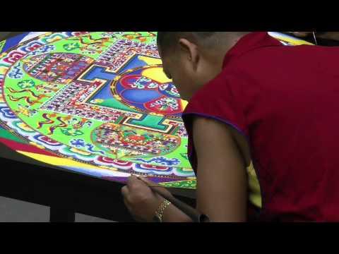 Timelapse: Tibetan Sand Mandala Demonstration