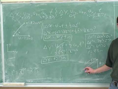 Physics: Two-dimensional projectile motion (3)