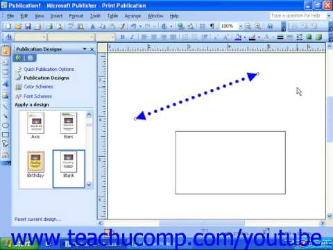 Publisher 2003 Tutorial Formatting Lines and Borders Microsoft Training Lesson 6.3
