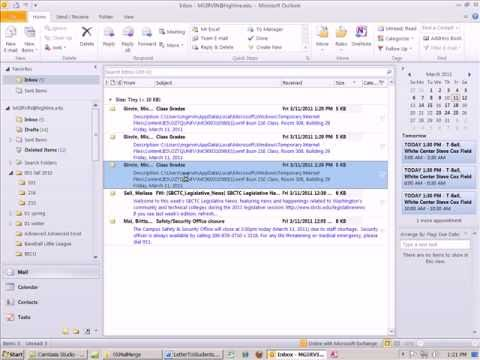 Office 2010 Class #51: Word E-Mail Mail Merge from Data In an Access Database