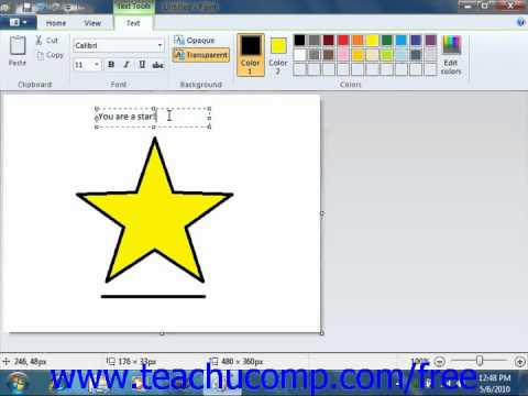 Windows 7 Tutorial Adding Text Microsoft Training Lesson 5.3