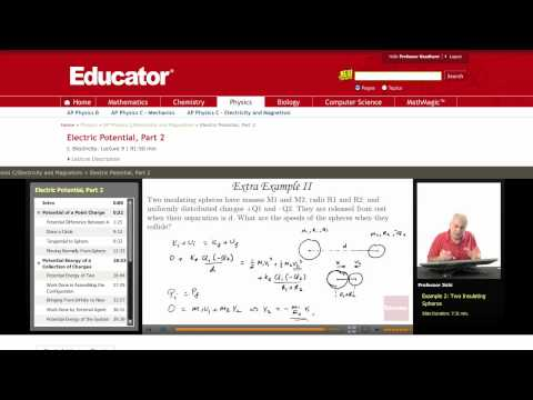 Physics: Electric Potential (Insulating Spheres)