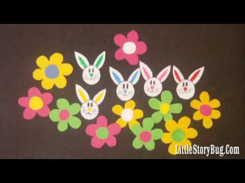 Preschool songs for Easter - 5 Little Bunnies - Littlestorybug