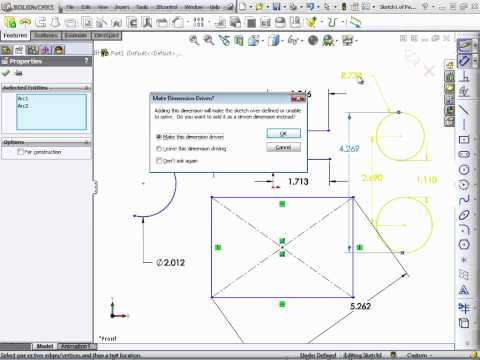 Solidworks 2012 Tutorial | Introducing Dimensions