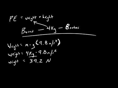 Physics Lecture - 28 - Potential Energy of Bacon