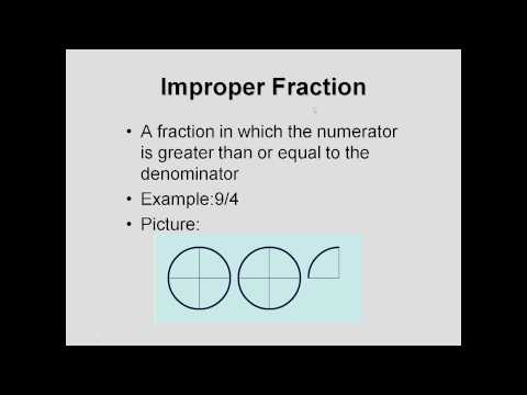 The Vocabulary of Fractions
