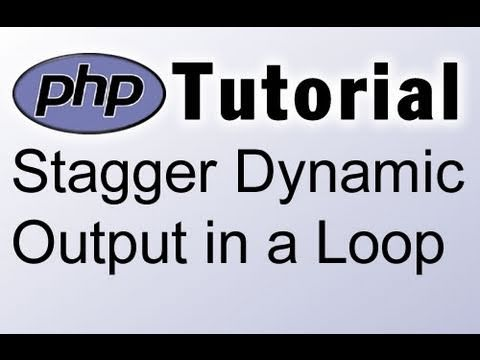 PHP Tutorial : Stagger Dynamic Output in a Loop : Google Adsense Ads