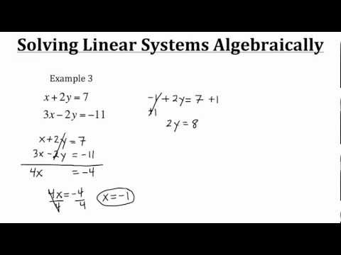 Solving Systems by Substitution