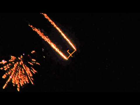 Super Salto Jet Powered Glider Night Pyro Flight at Avalon 2011
