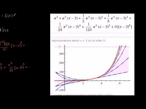 Visualizing Taylor Series for e^x