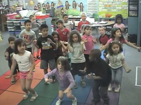 Using HeidiSong's handmotions in the Kindergarten Classroom