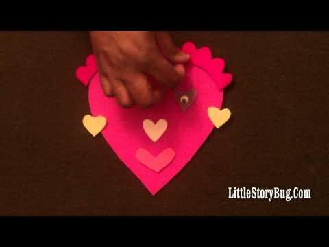 Valentine's activity for preschool - My Pink Valentine - Littlestorybug