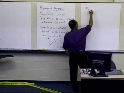 Polynomial Regression Model: Derivation: Part 1 of 2