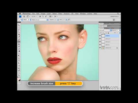 Photoshop: Reducing shadows around the face | lynda.com