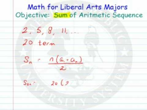 Sum of an Aritmetic Sequence