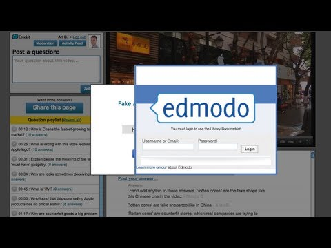 Sharing Grockit Answers videos with students through Edmodo