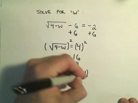 Solving an Equation Involving a Single Radical (Square Root) - Example 2
