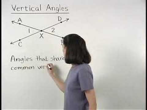 Vertical Angles - YourTeacher.com - Geometry Help