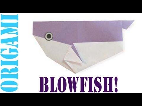 Origami Daily - 283: Puffer Fish (Blow fish - Tetraodontidae) - TCGames [HD]