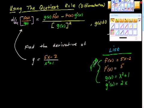 The Quotient Rule Part One AP Calculus