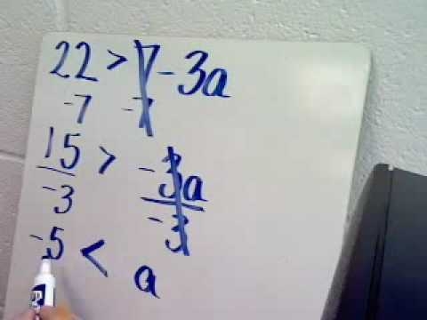 Solving Linear Inequalities 2
