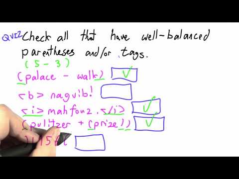 Well Balanced Solution - CS262 Unit 3 - Udacity