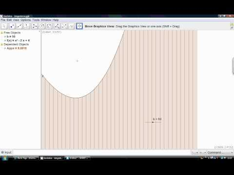 Trapezium using geogebra (trapezoid rule) Core 2 maths